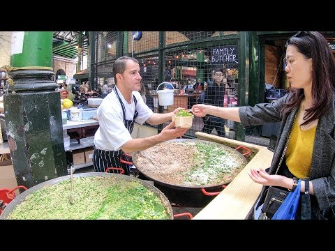 Rice and Asparagus, Rice and Peas, Cooking two BIG Pans of Risotto. London Street Food