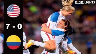 USA vs Colombia 7 - 0 All Goals & Highlights | April 6, 2016