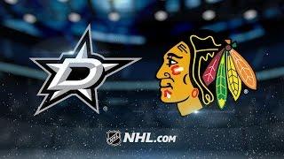 Eaves scores hat trick, leads Stars past Blackhawks