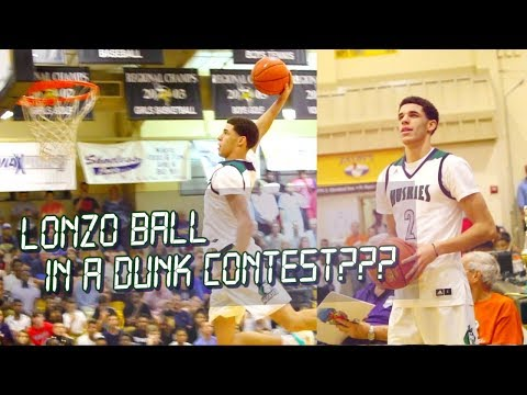 LONZO BALL In A Dunk Contest Versus Kwe Parker!! Right Before The Ball Bros BLEW UP!