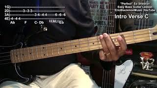How To Play PERFECT Ed Sheeran On Bass Guitar Eric Blackmon Guitar + TABS
