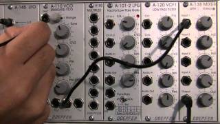 Doepfer A110 VCO /A145 LFO Frequency Modulation