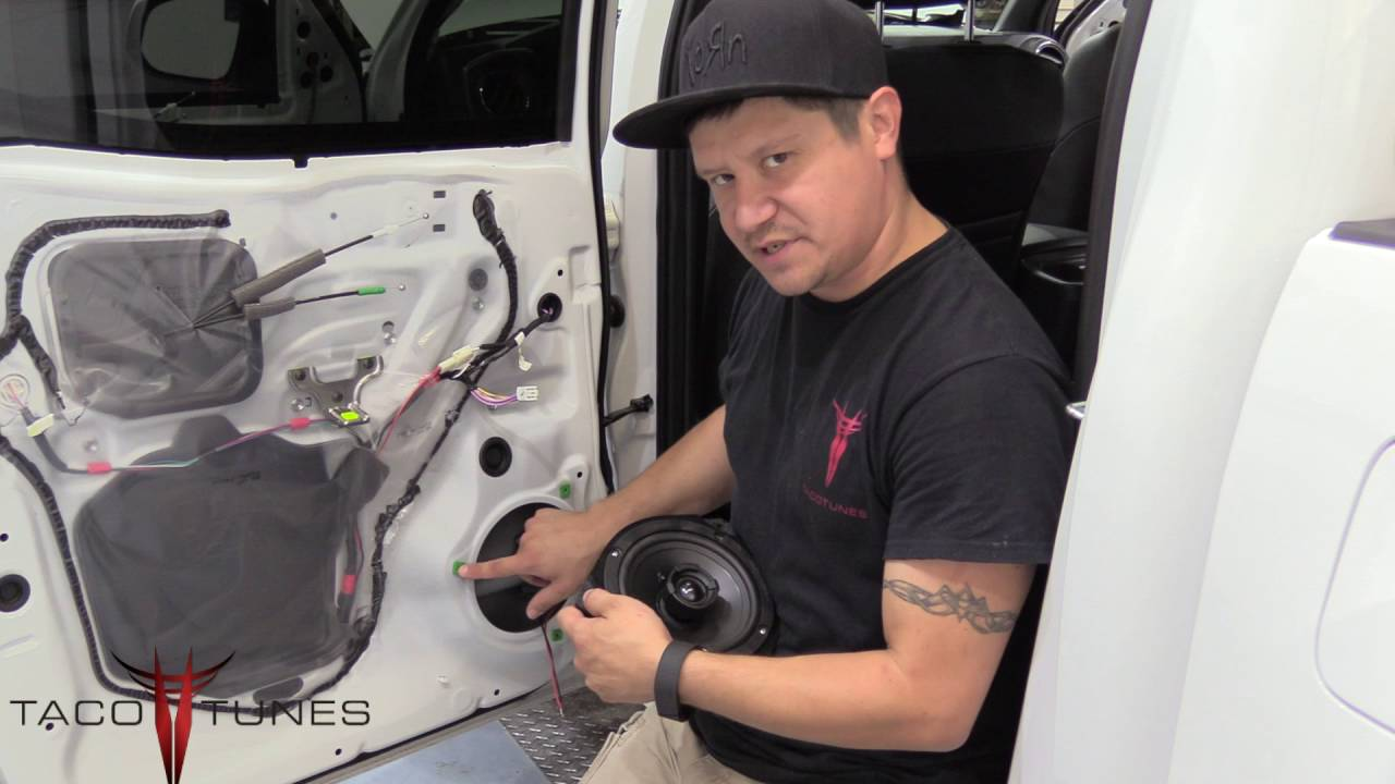 2016 toyota tacoma how to install aftermarket speakers in the rear doors youtube. Black Bedroom Furniture Sets. Home Design Ideas