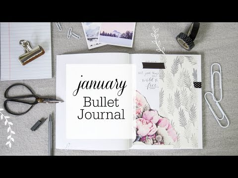 Bullet Journal Layout January 2018