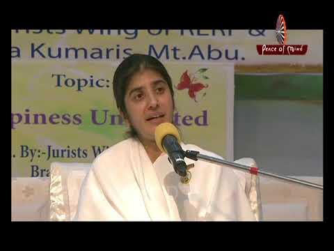 खुशी आपके भीतर है ... । बी.के. शिवानी | BK Shivani (HINDI) | Brahma Kumaris | Peace of Mind TV