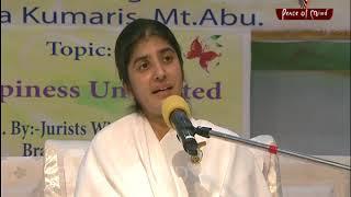 खुशी आपके भीतर है बी के शिवानी BK Shivani HINDI Brahma Kumaris Peace of Mind TV