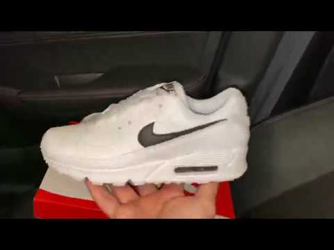 Melodioso Nathaniel Ward ronzio  Nike Air Max 90 White Black Womens shoes - YouTube