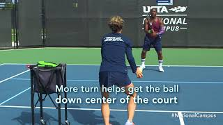 Improve your tennis game: Add depth to your double-handed backhand