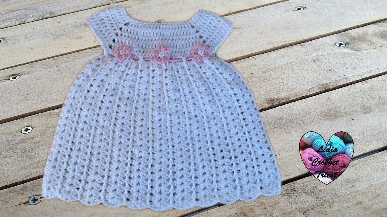 Dress Crochet Youtube Diy Bébé Baby Robe sdoxBtrhQC