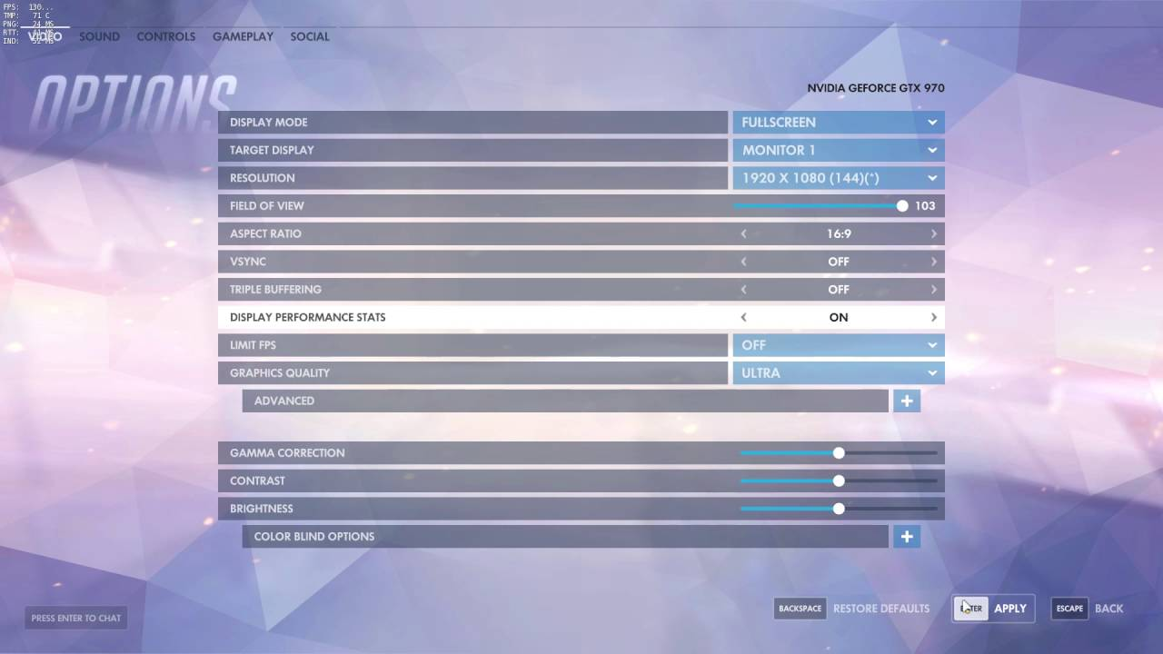 How To: Show Ping and FPS in Overwatch