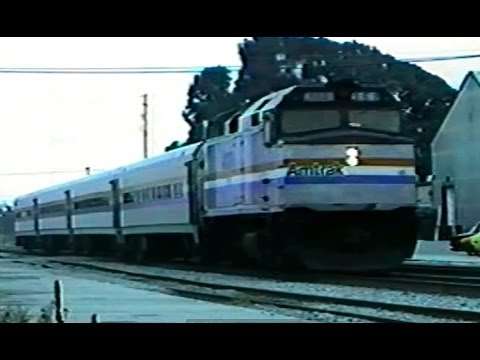 Amtrak eastbound Capitol with Horizon Fleet cars, Berkeley CA 1991
