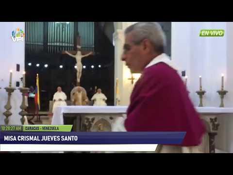 Venezuela - Misa Crismal de jueves santo desde la Catedral de Caracas - VPItv