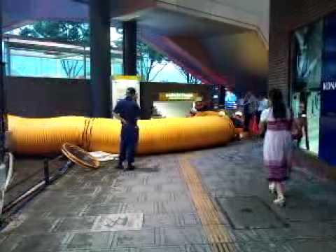 仙台市青葉区川平のゲリラ豪雨