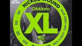 Daddario(ダダリオ) EXL165 ベース弦を試奏・音質解析・比較♪