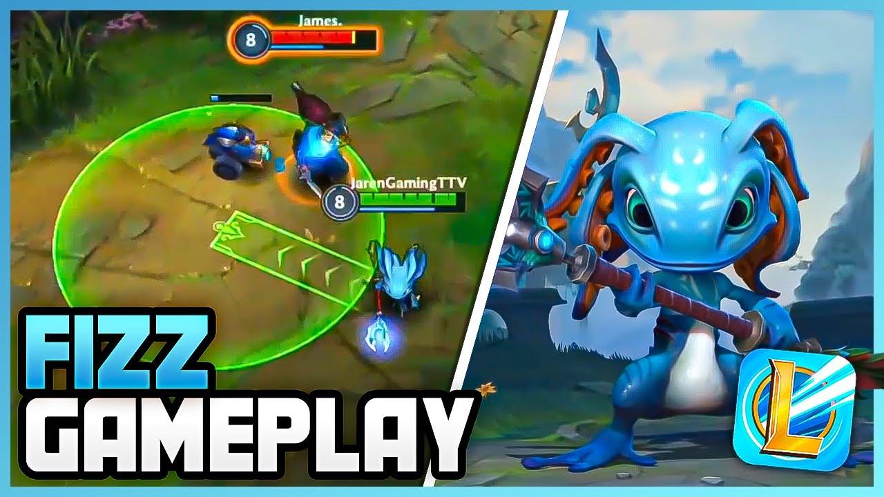 FIZZ Alpha Gameplay - League of Legends: Wild Rift