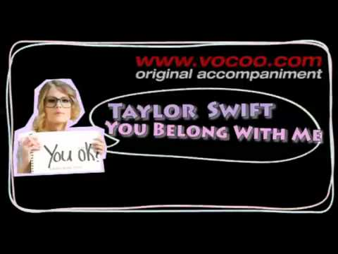 Taylor Swift  You Belong with me (Karaoke/original accompaniment / Instrumental / lyrics)