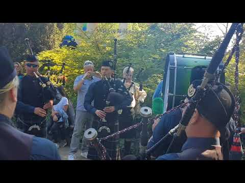 The Owl Town Pipe & Drum Band  auf dem Highland  Gathering Peine 2018 - Highland Cathedral