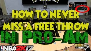 Best Free Throw NBA 2k17 | How To Never Miss A  Free Throw | Best Jumpshot | NBA 2k17 Cheese
