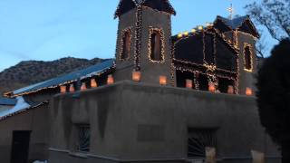 El Santuario de Chimayo, just before sunset on Sun, Dec. 1. 2013