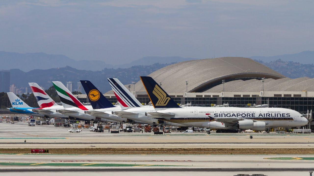 Boeing 747 Amp Airbus A380 Heavies At Lax 1 Hr Plane