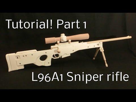 Tutorial! L96A1 Part 1 [rubber band gun]
