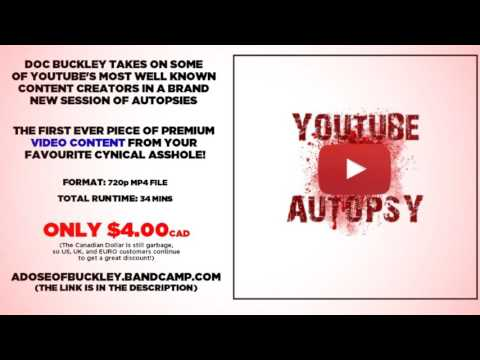 YouTube Autopsy - Now Available on Bandcamp