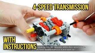 Lego Technic 4-speed RC transmission with Chiron selectors (WITH INSTRUCTIONS!)