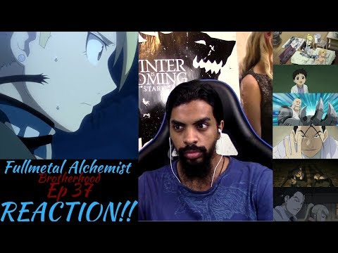 "Fullmetal Alchemist Brotherhood Episode 37 REACTION/REVIEW!!!! ""The First Homunculus"""