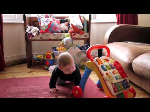 My Son At 10 Months With His Favourite Toy - The Vtech First Steps Baby Walker