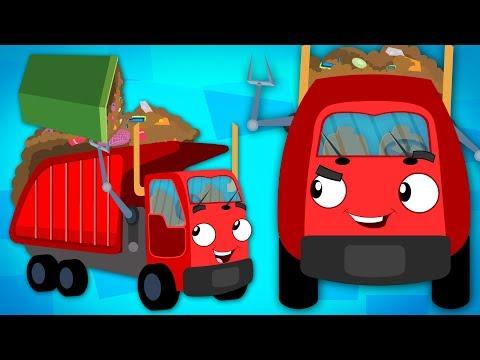 Wheels On The Garbage Truck | Car Cartoons | Song For Kids Rhyme Truck | Song Kids tv Nursery rhyme