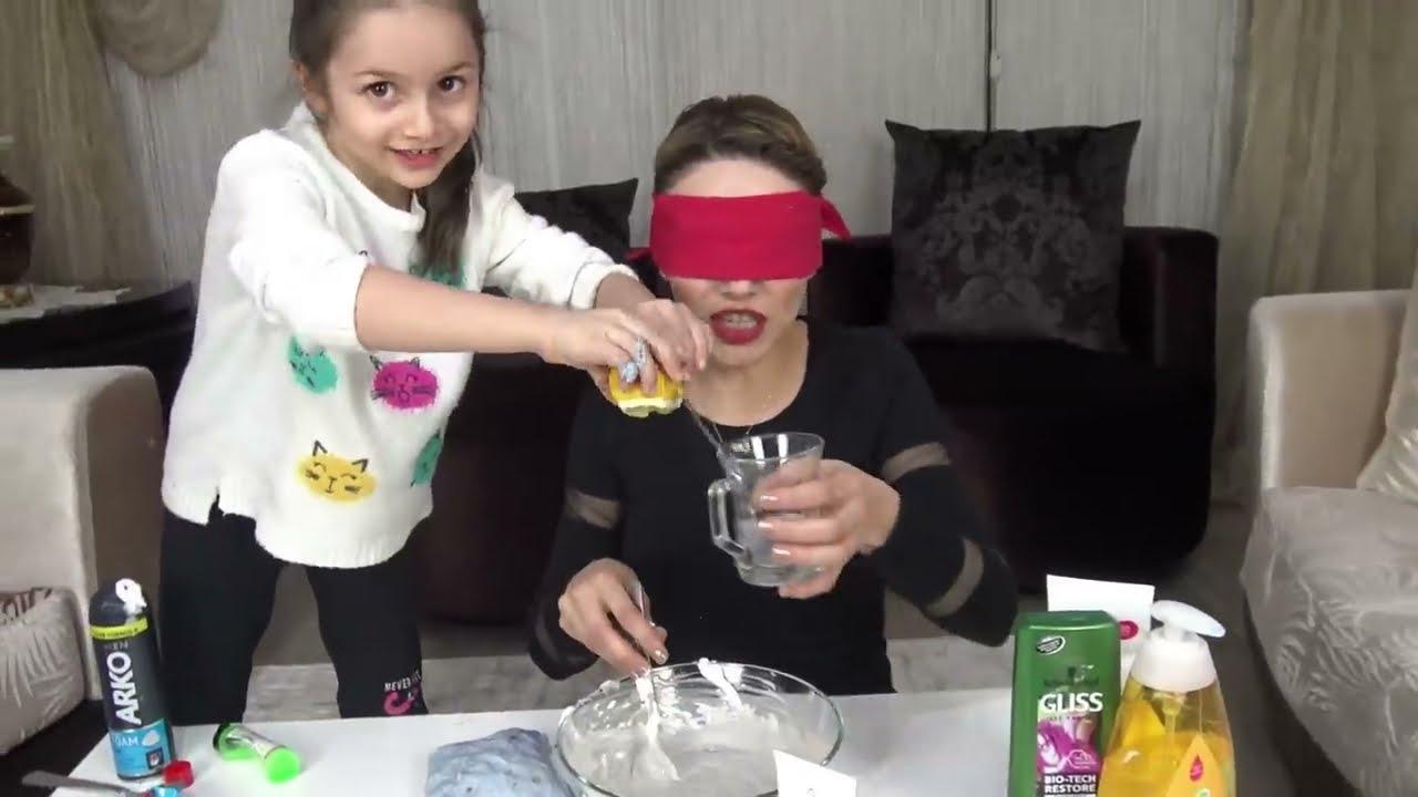 Slime Şakası Gözü Kapalı Slime Challenge Çöplük Slime Prenses Lina