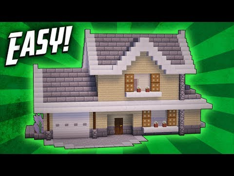 Minecraft How To Build Suburban House Tutorial