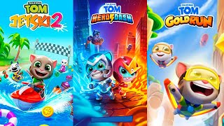 Talking Tom Gold Run - Talking Tom Hero Dash - Talking Tom Jetski 2 - Full walkthrough - Gameplay screenshot 3