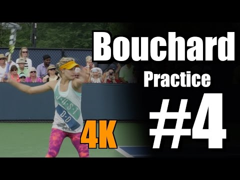 Eugenie Bouchard in 4k   Practice #4   Western & Southern Open 2014
