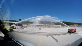 Thomas Cook Airlines A321 gets water salute at Skiathos Airport