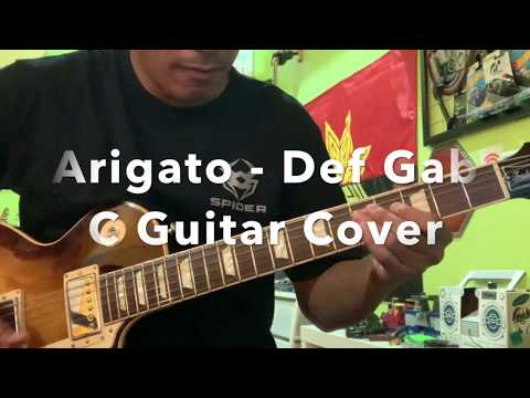 Arigato Def Gab C - Full Song Guitar Cover & Solo Slow Motion