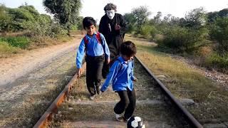 Shaitan vs Train and Two Students ( Shaitan vs Kids )