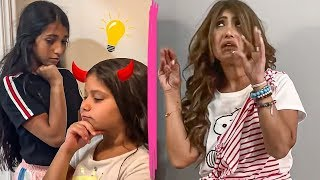 يوميات ميمي ونور | البنات يسون خطه على أمهم ؟ |