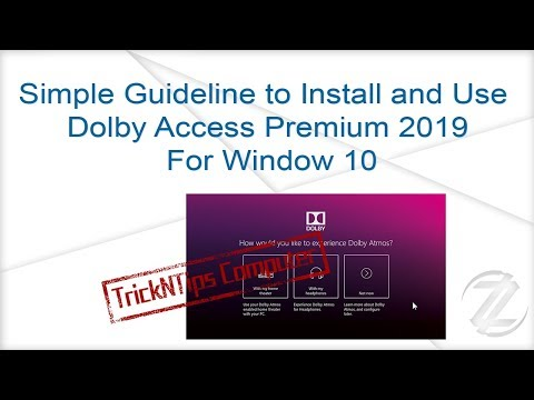 Dolby Access Premium 2019 For Window 10 + Driver | 8 MB -