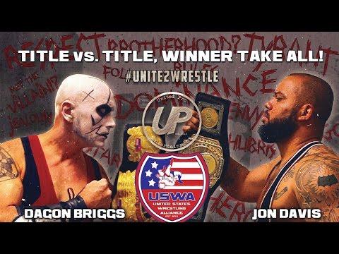 Jon Davis vs Dagon Briggs - USWA Title vs Title match - Decision 2016 - 11/18/16