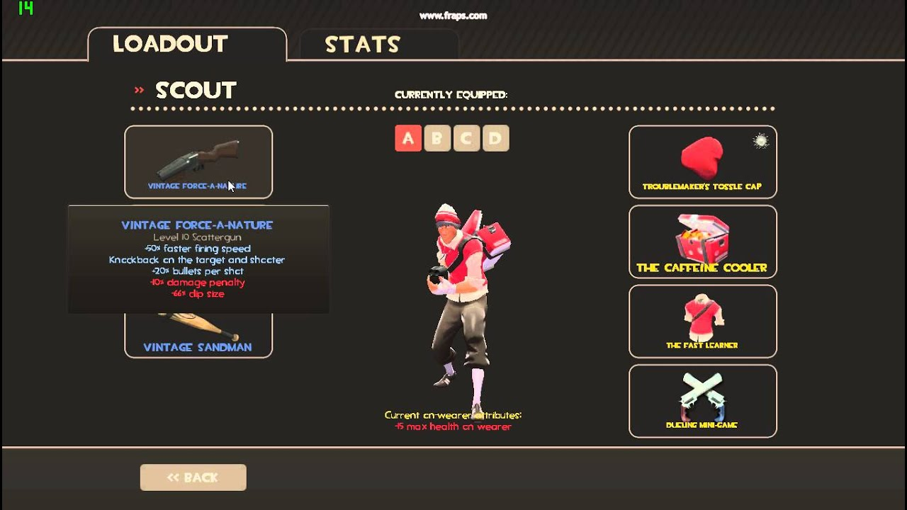TF2 My Scout Loadout (1/1/2014) - YouTube