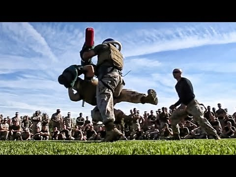 Marine Corps Pugil Stick Fights