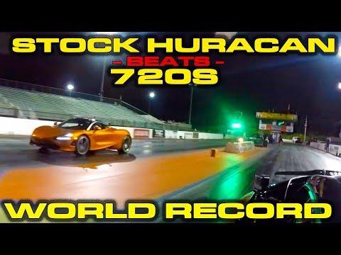 Lamborghini Huracan Beats McLaren 720S In 1/4 Mile Drag Race