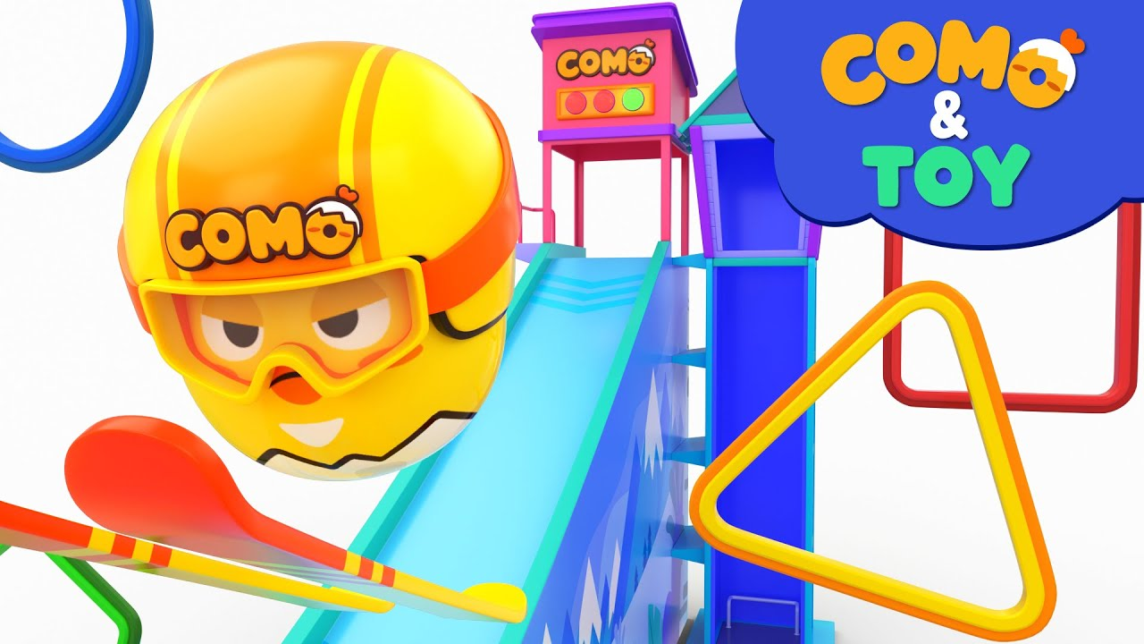 Como | Ski Jumping | Learn colors and words | Cartoon video for kids | Como Kids TV