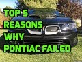 Top 5 Reasons Why Pontiac Failed