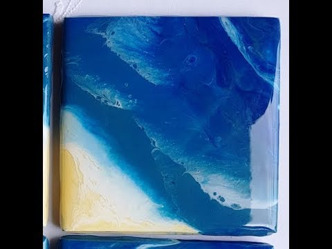 [17] Beach - inspired Coasters with resin