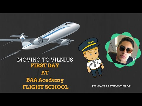 MOVING TO VILNIUS | FIRST DAY AT FLIGHT SCHOOL | BAA Aviation Academy | Days as Student Pilot ✈️