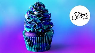MIDNIGHT GALAXY CUPCAKES - The Scran Line