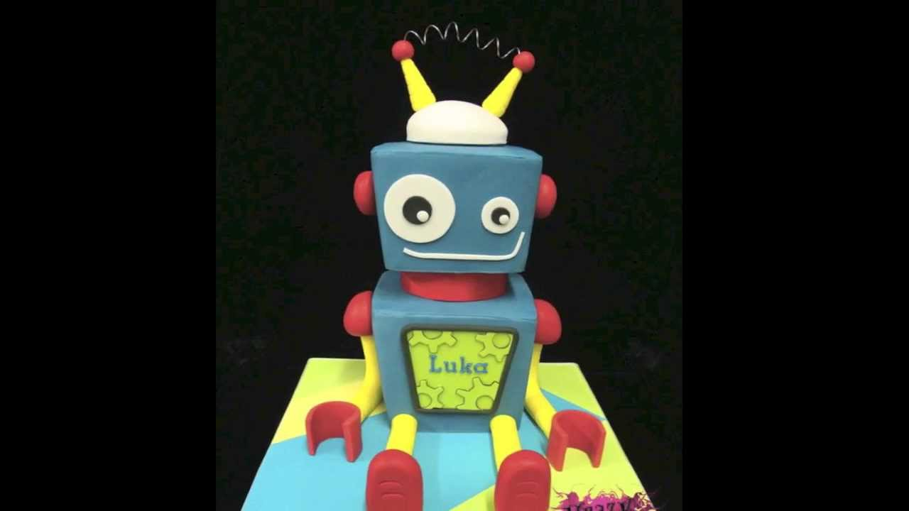 Robot Birthday Cake Topper