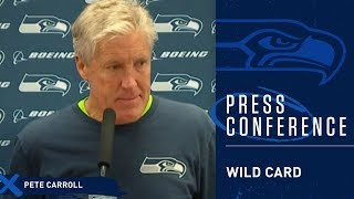Seahawks Head Coach Pete Carroll Postgame Press Conference at Cowboys